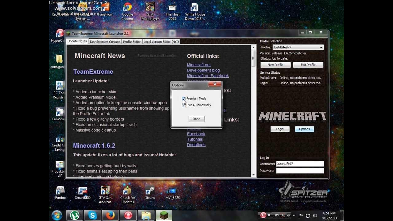 minecraft team extreme launcher free download 1.8