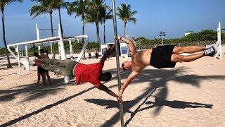 How to become a master of a human flag. Workout tutorial from Deny Montana and Swiss Dabody