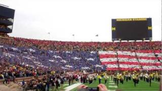 Michigan Stadium F-16 Fly Over - 11/19/2011