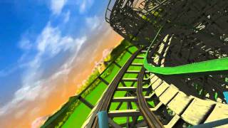 RCT3   Woodwork Roller coaster   PC Quality Test   HD