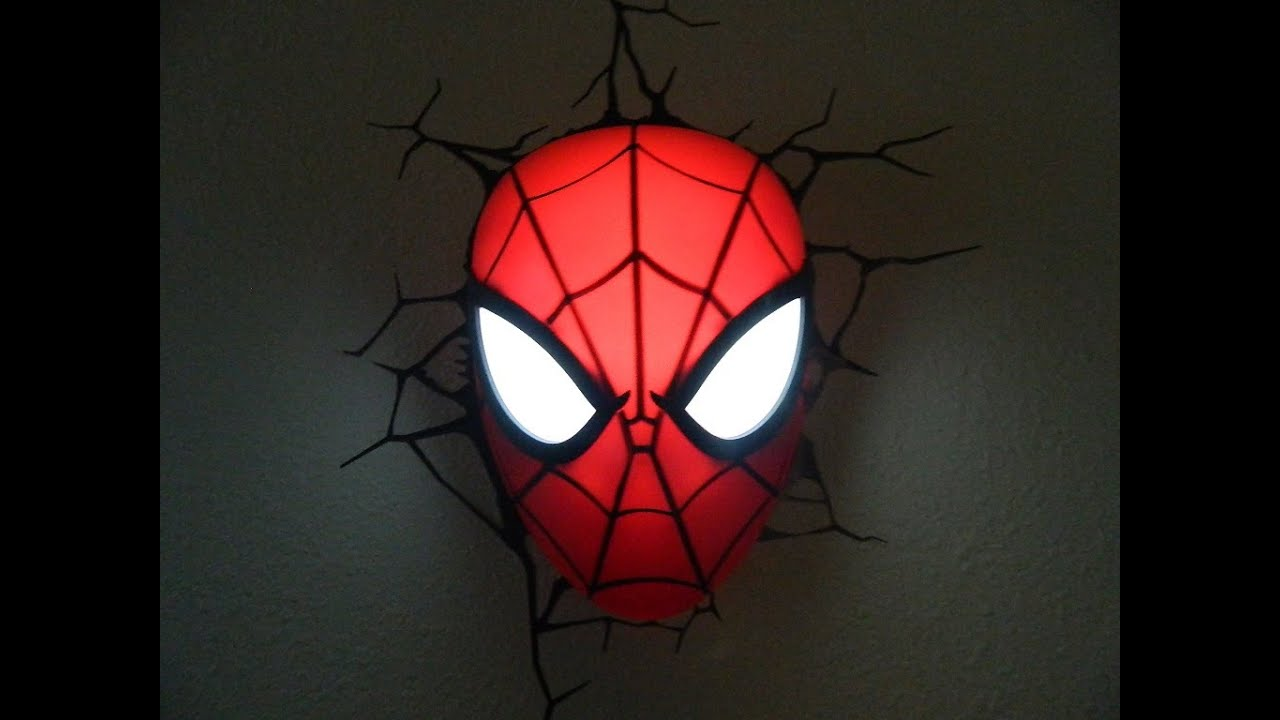 Marvel ultimate spider man spidey mask 3d deco light youtube marvel ultimate spider man spidey mask 3d deco light aloadofball Images