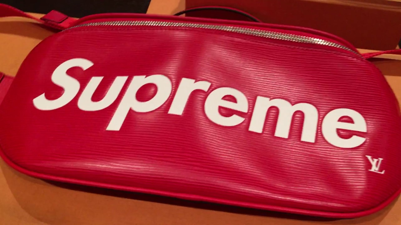3423dc7ff Review: LOUIS VUITTON x SUPREME Bumbag In Detail - YouTube