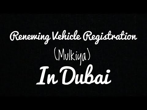 How To Renew Your Car Registration In Dubai?