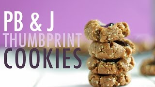 How To Make Peanut Butter & Jelly Thumbprint  CHRISTMAS COOKIE RECIPE