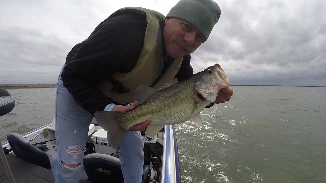 Choke canyon winter bass fishing 1 7 2018 youtube for Choke canyon fishing report