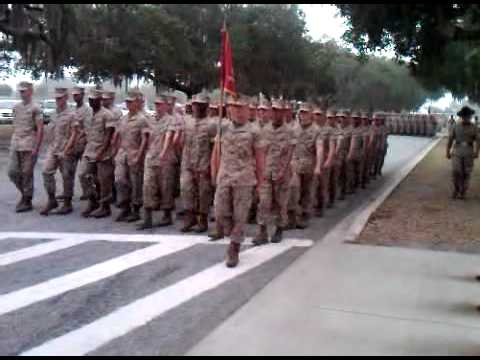 1st Battalion Charlie Company Marching to Family Day Parris Island