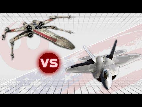 F-22 Raptor vs T-65 X-Wing | USA vs Star Wars: Who Would Win |