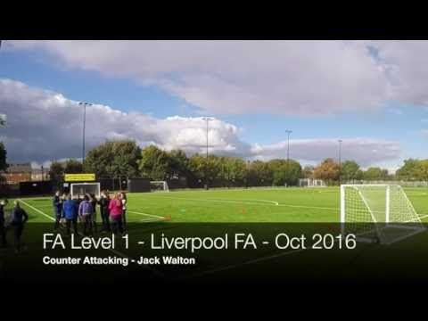 Counter Attacking Practice FA Level 1In Coaching Football