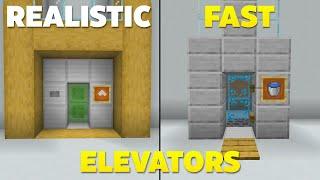 4 EASY Ways t๐ make Elevators in Minecraft Bedrock! (fast)