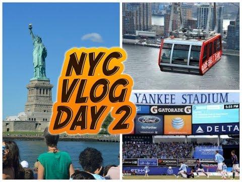 NEW YORK CITY VLOG / DAY 2 / CRUISE,ROOSEVELT TRAM RIDE & FOOTBALL - (HD)
