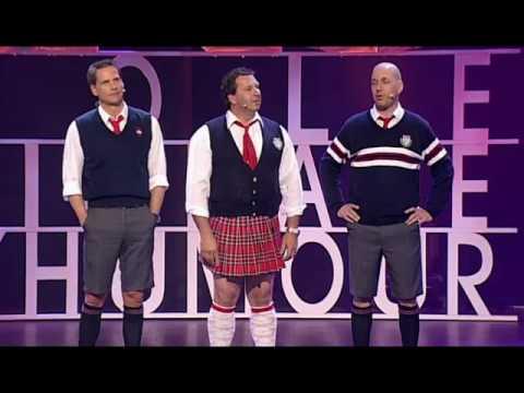 Juste pour rire 2008 - Numéro d'ouverture avec François Morency, Mario Jean et Martin Matte