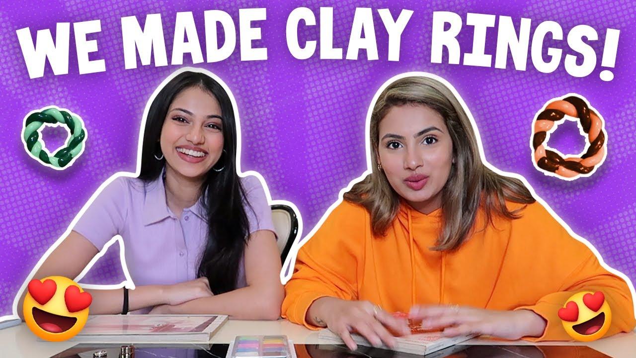 We Made Clay Rings!!! *DIY* | Aashna Hegde