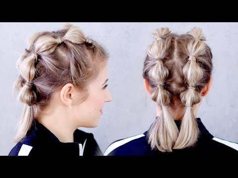 Super Easy Workout Hairstyle for Short Hair