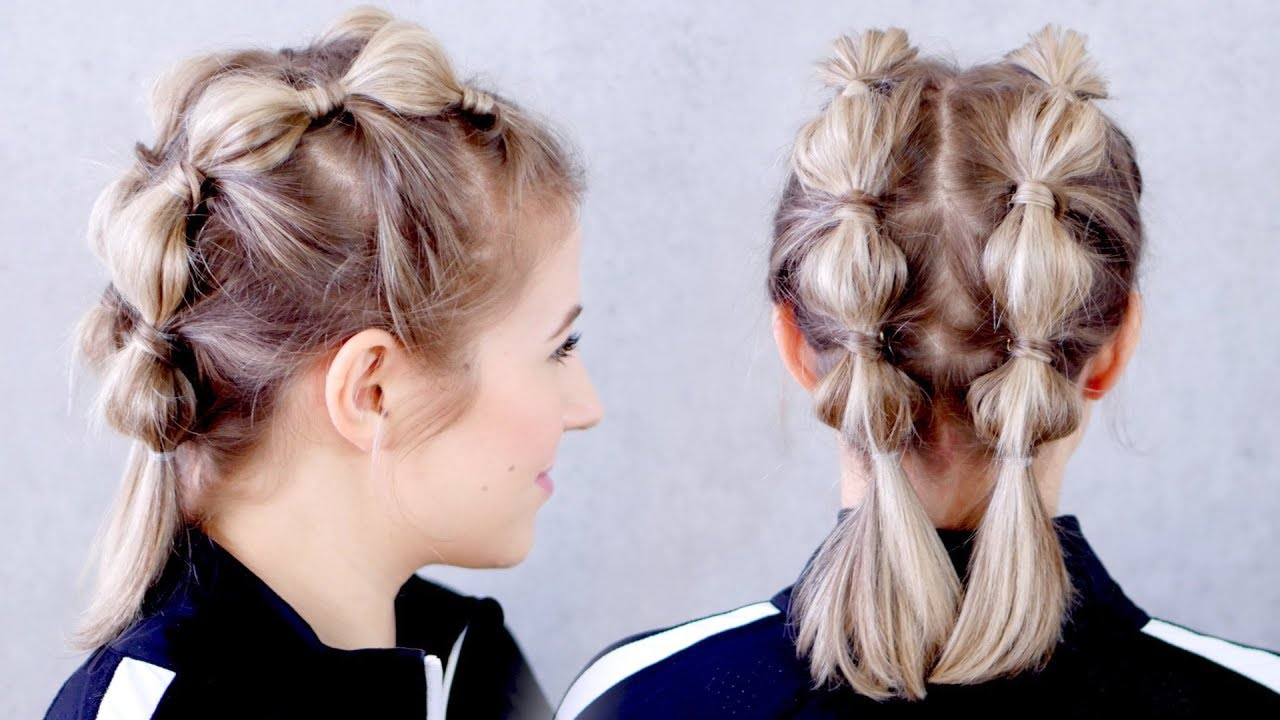 super easy gym/workout hairstyle for short hair   milabu