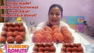 choco butternut munchkins | dunkin donut copy cut | home made