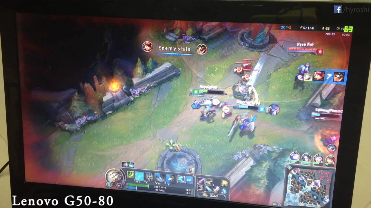 League of Legends on Lenovo G50-80 with AMD Radeon R5-230M Performance test