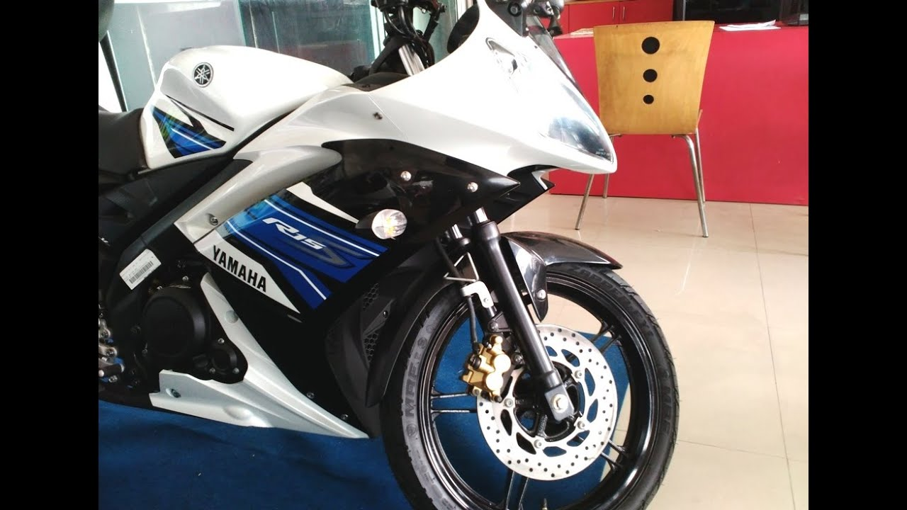 Yamaha R15 S New Model Track White Colour At Showroom India Youtube