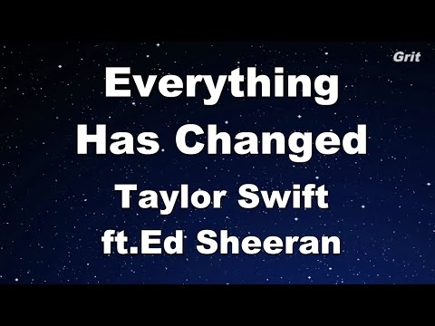 Everything Has Changed - Taylor Swift ft. Ed Sheeran Karaoke【With Guide Melody】
