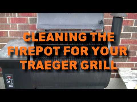DIY TRAEGER GRILL (FIREPOT CLEANING) Fire Prevention