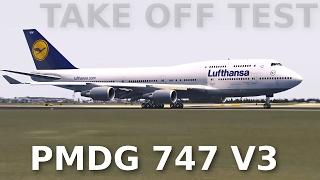 [FSX] PMDG 747 V3 - QUICK TAKE OFF TEST (Spotter View)