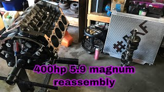 How To Rebuild A V8 5 9L 360ci Magnum Engine Pt1