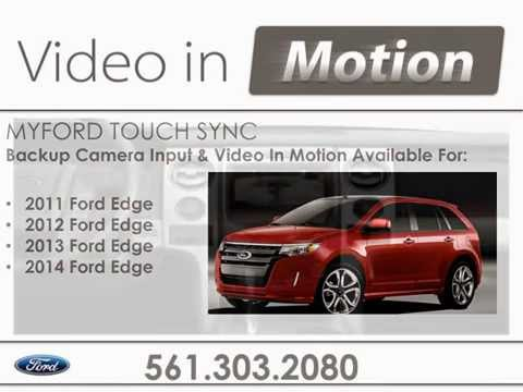 Ford Edge Myford Touch Video In Motion Backup Camera