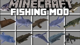Minecraft FISH MOD / SWIM AWAY FROM SHARKS AND GIANT KILLER WHALES!! Minecraft