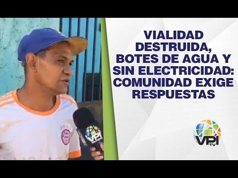 Guárico - Vialidad Destruida, Botes De Agua Y Sin Electricidad: Comunidad Exige Respuestas - VPItv