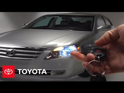 2005 - 2007 Avalon How-To: Theft Deterrent System - Turning Alarm Off | Toyota
