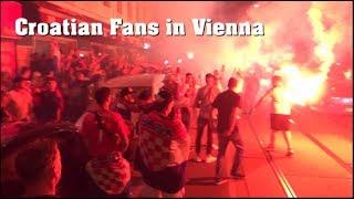 AUSSCHREITUNG! KROATEN feiern in WIEN nach WM-SIEG | 07.07.2018