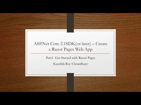 Part1 Create a Razor web app using ASP.Net core thumbnail