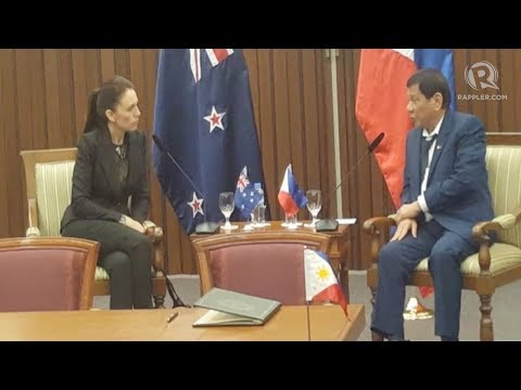 Youngest New Zealand Prime Minister meets Duterte