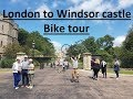 vlog011 London to Windsor castle (40km), bike tour, gopro 5, DJI Spark
