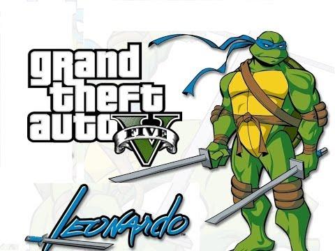 GTA V Online | Leonardo Tortuga ninja EASTER EGG