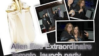 Alien Eau Extraordinaire perfume, Thierry Mugler Top fragrance launch party. perfume review