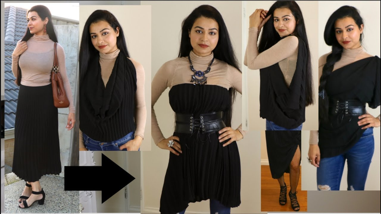 No Sew DIY: BEST Skirt Hacks   Best Clothing Hacks - YouTube