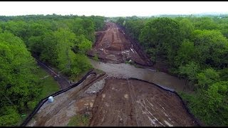 Old Madison Pike Road Construction Overflight: 29-apr-14