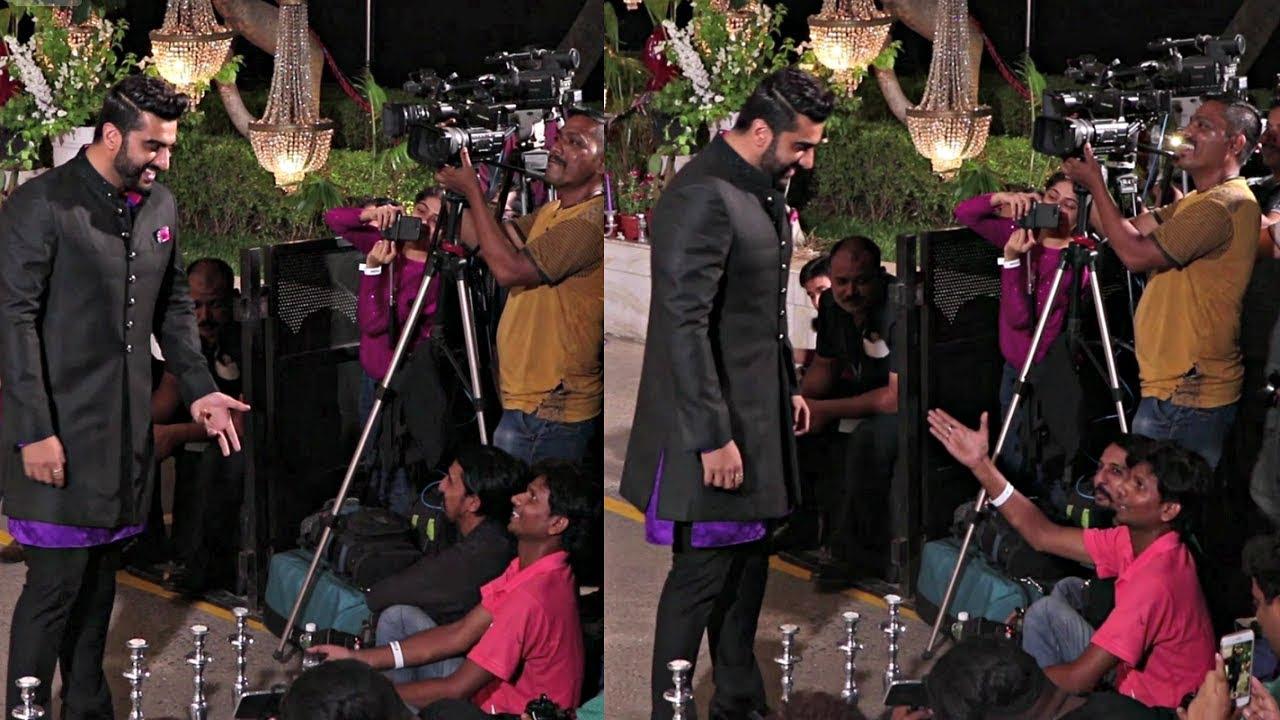 Arjun Kapoor Sweet Gesture Towards Media At Sonam Kapoor Wedding Reception