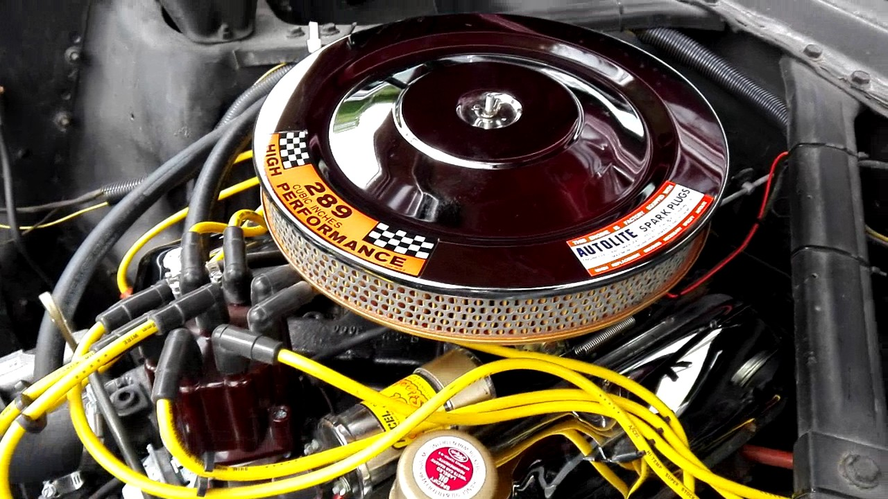 moteur mustang 1965 v8 289ci carbu 600 edelbrock performer - youtube