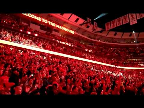 Intro Chicago Bulls NBA Playoffs 2012 Opening game v 76ers
