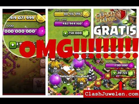 CLASH OF CLANS UNENDLICH JUWELEN!!😱OMG!!!+download