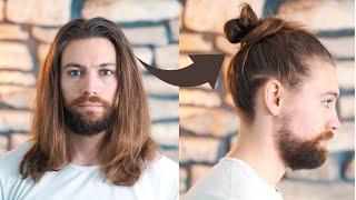 How To Tie A Meṡsy Man Bun
