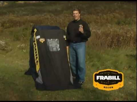 Frabill Recon Portable Ice Shelter Youtube