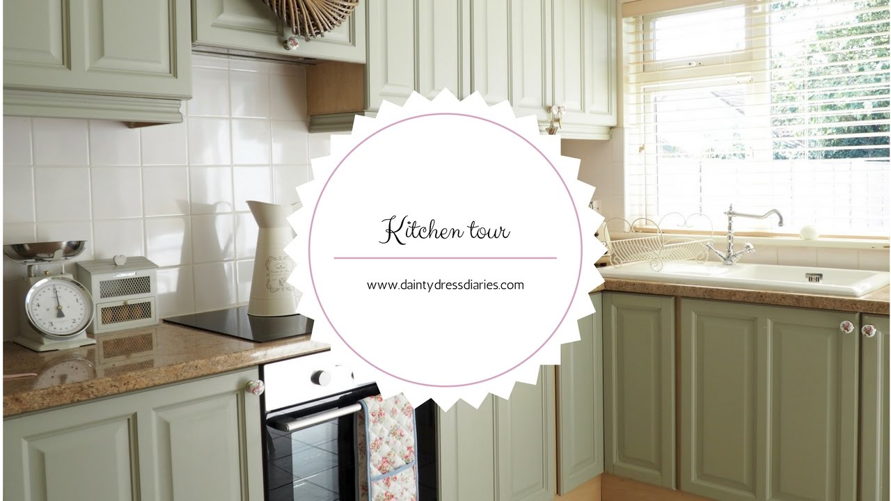 Kitchen Tour And How I Painted My Kitchen Cabinets Using Chalk Paint Youtube
