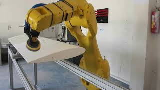 Robotic  Sanding and polishing on carbon parts