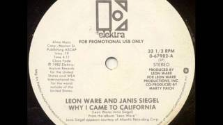 LEON WARE AND JANIS SIEGEL- WHY I CAME TO CALIFORNIA