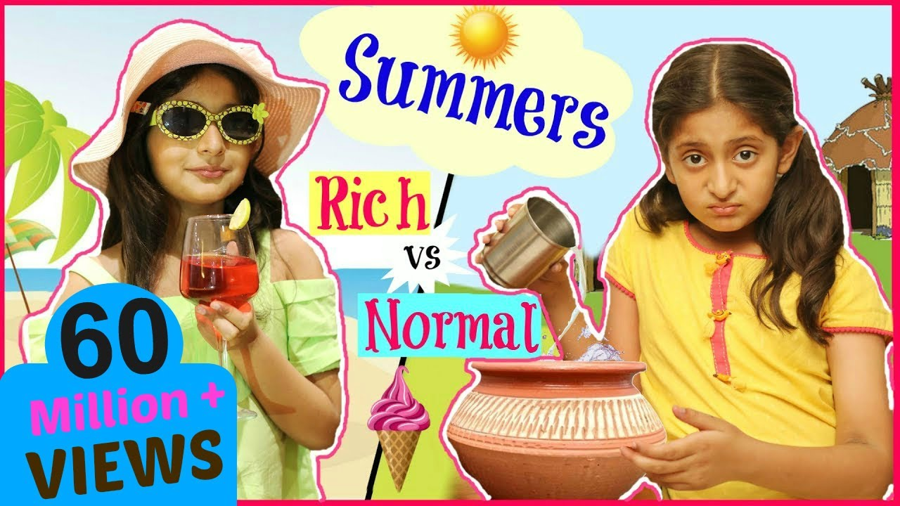 Download KIDS In SUMMERS - Rich vs Normal ...| #Fun #Sketch #Roleplay #Anaysa #MyMissAnand