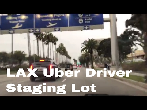 Uber Driver Staging Area at LAX