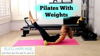 Pilates With Weights - Advanced Pilates Workout for Toning