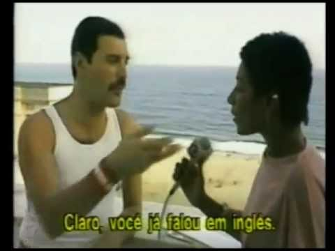 Gloria Maria vs Freddie Mercury - 1985 - Rock in Rio Bastidores